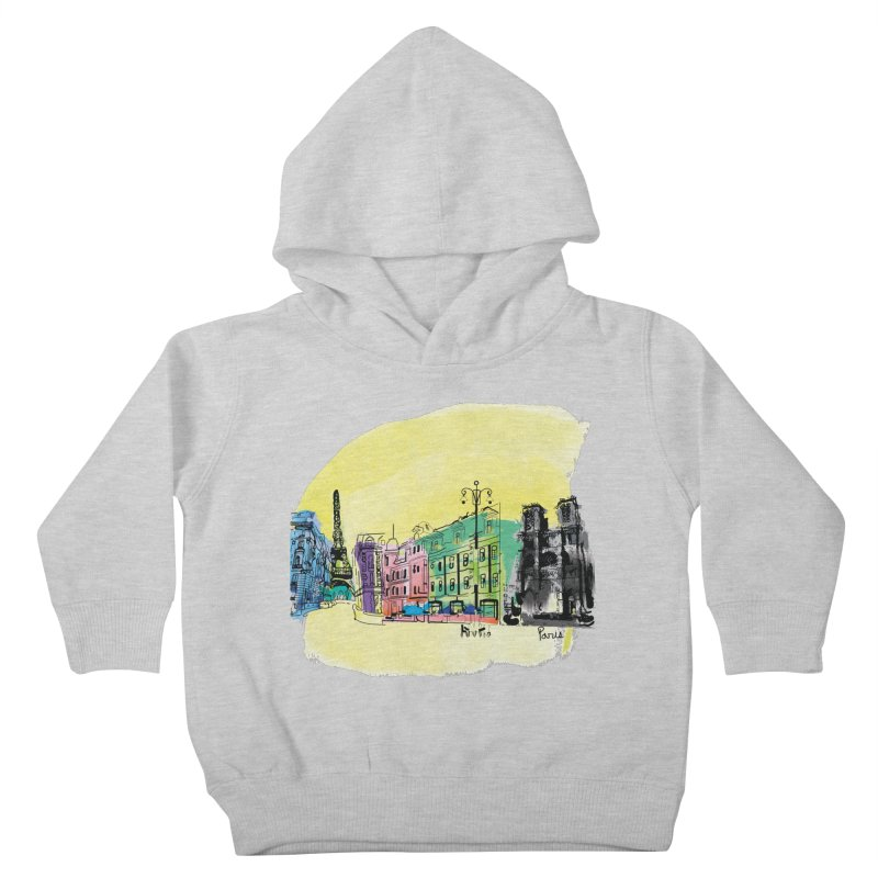 Travel in Paris Kids Toddler Pullover Hoody by cindyshim's Artist Shop