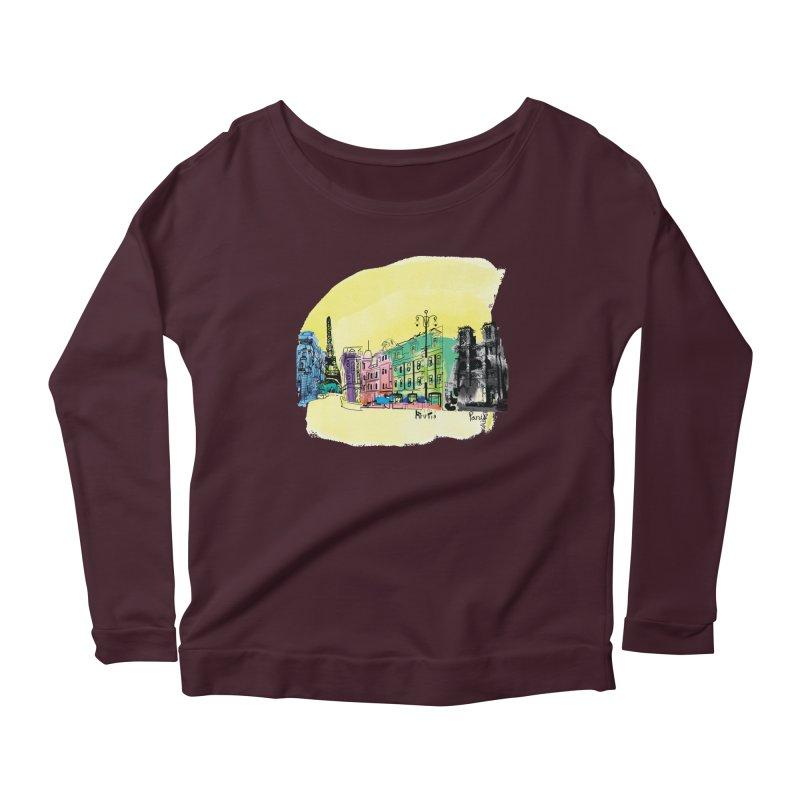 Travel in Paris Women's Longsleeve T-Shirt by cindyshim's Artist Shop