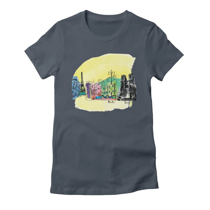 Travel in Paris Women's T-Shirt by cindyshim's Artist Shop