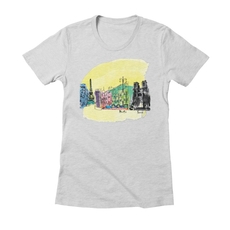 Travel in Paris Women's Fitted T-Shirt by cindyshim's Artist Shop