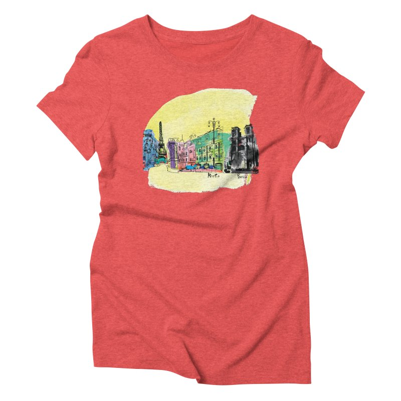 Travel in Paris Women's Triblend T-Shirt by cindyshim's Artist Shop