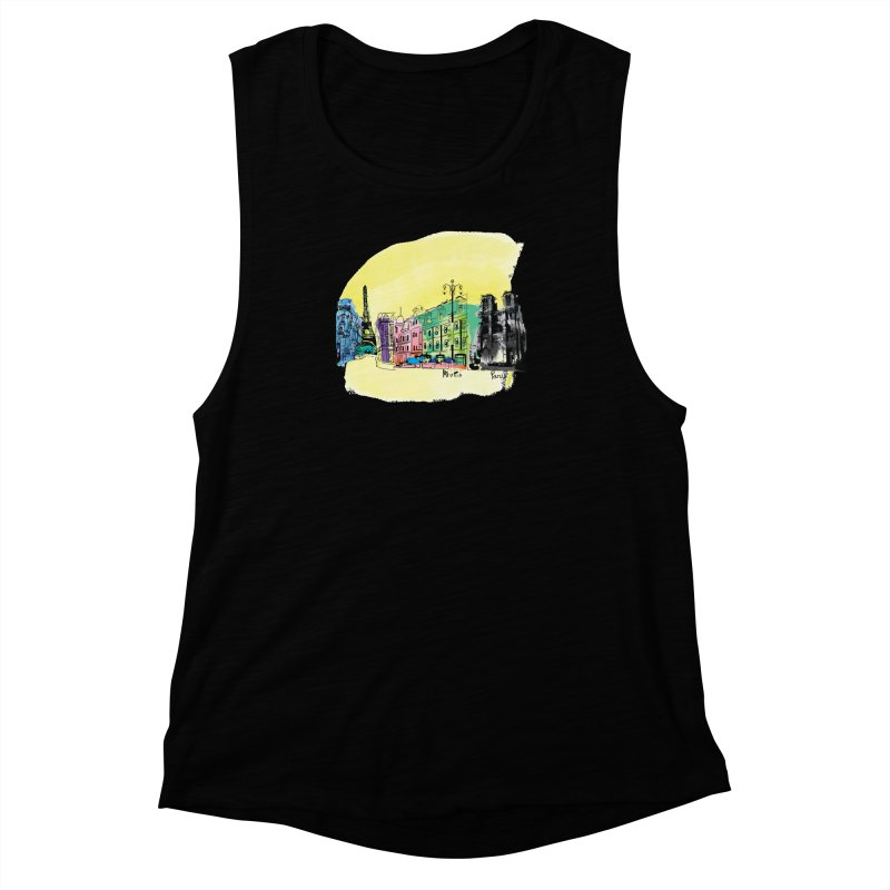 Travel in Paris Women's Muscle Tank by cindyshim's Artist Shop