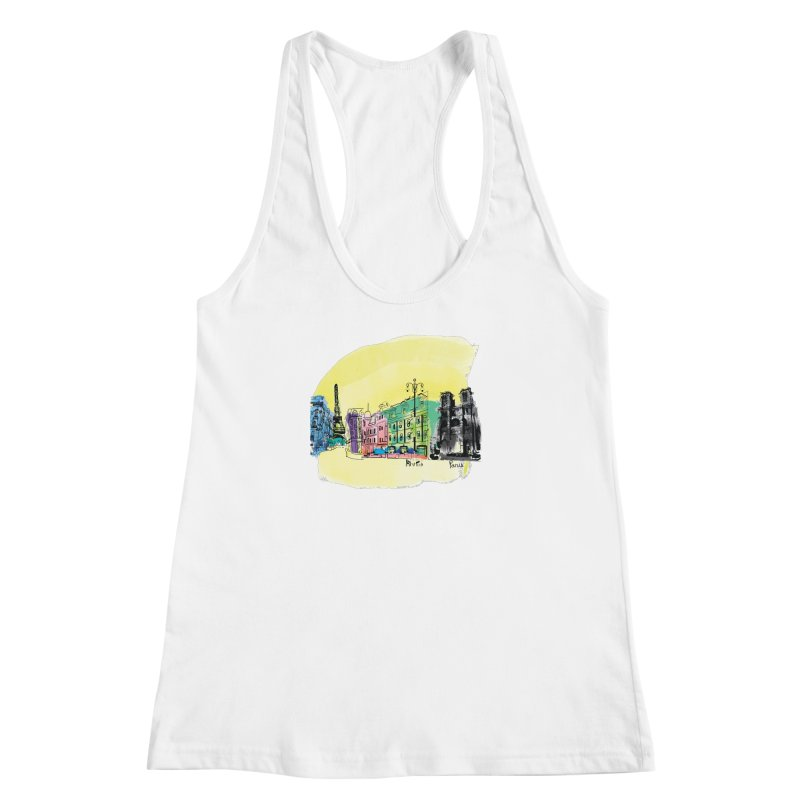 Travel in Paris Women's Racerback Tank by cindyshim's Artist Shop