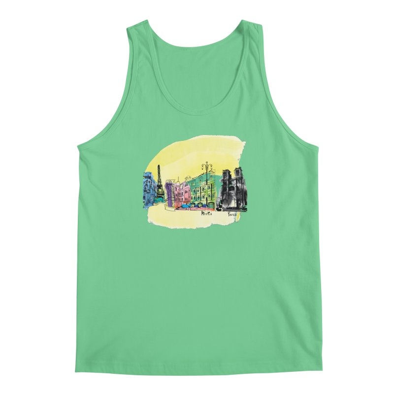 Travel in Paris Men's Regular Tank by cindyshim's Artist Shop