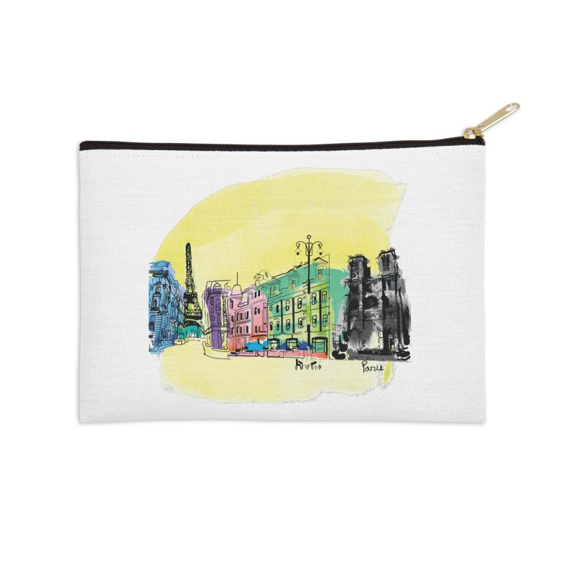 Travel in Paris Accessories Zip Pouch by cindyshim's Artist Shop