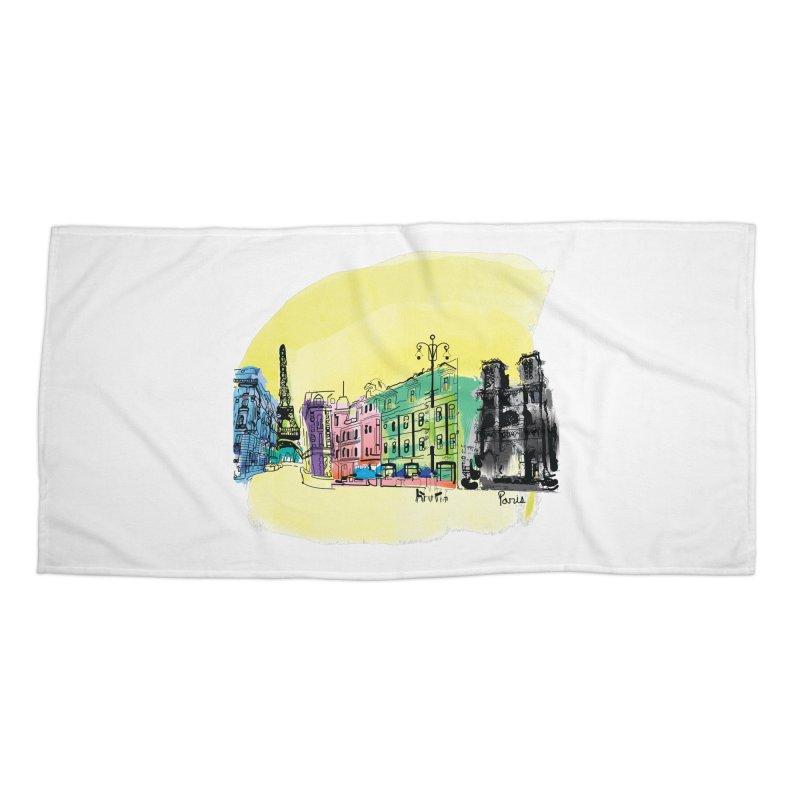 Travel in Paris Accessories Beach Towel by cindyshim's Artist Shop