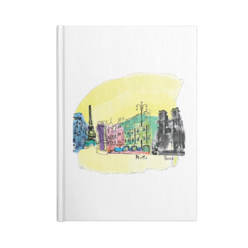 Travel in Paris Accessories Lined Journal Notebook by cindyshim's Artist Shop