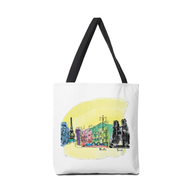 Travel in Paris Accessories Tote Bag Bag by cindyshim's Artist Shop