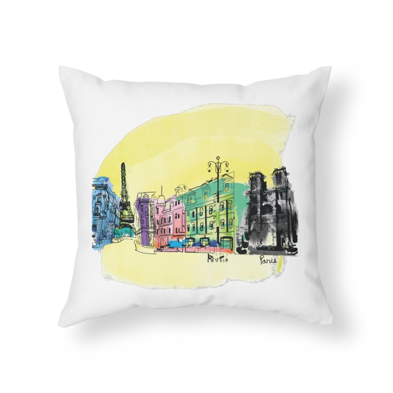 Travel in Paris Home Throw Pillow by cindyshim's Artist Shop