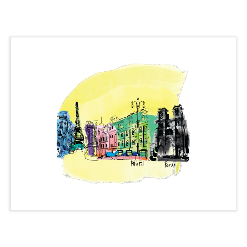 Travel in Paris Home Fine Art Print by cindyshim's Artist Shop