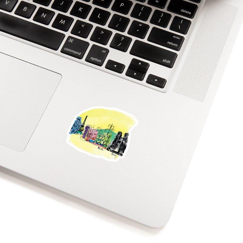 Travel in Paris Accessories Sticker by cindyshim's Artist Shop