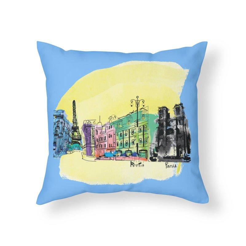 Travel in Paris Home Throw Pillow by cindyshim's Artist Shop