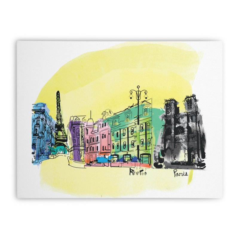 Travel in Paris Home Stretched Canvas by cindyshim's Artist Shop