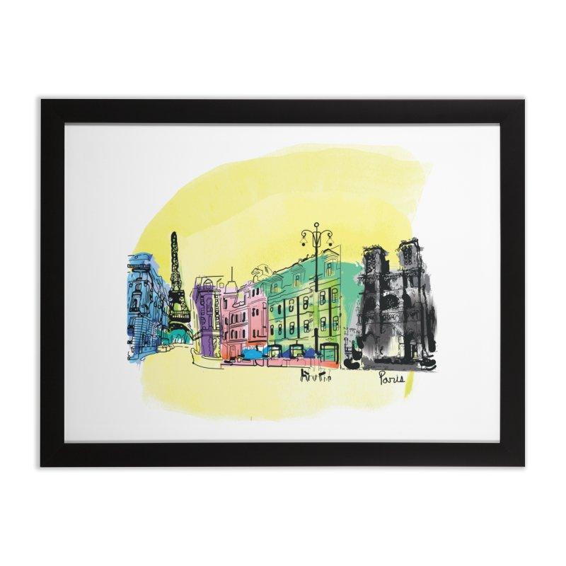 Travel in Paris Home Framed Fine Art Print by cindyshim's Artist Shop