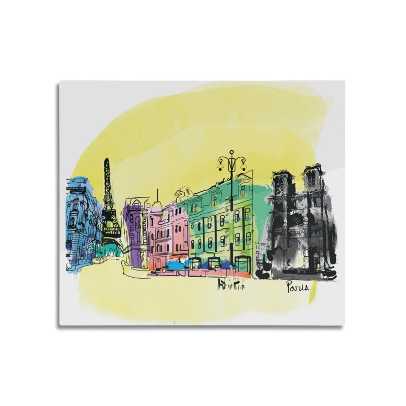 Travel in Paris Home Mounted Aluminum Print by cindyshim's Artist Shop