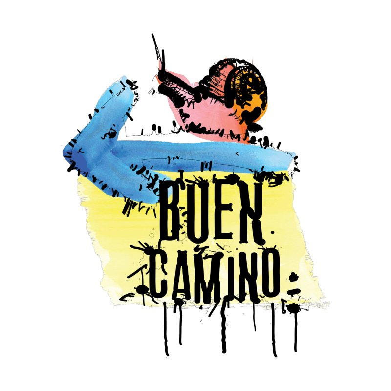 Buen Camino Men's T-Shirt by cindyshim's Artist Shop