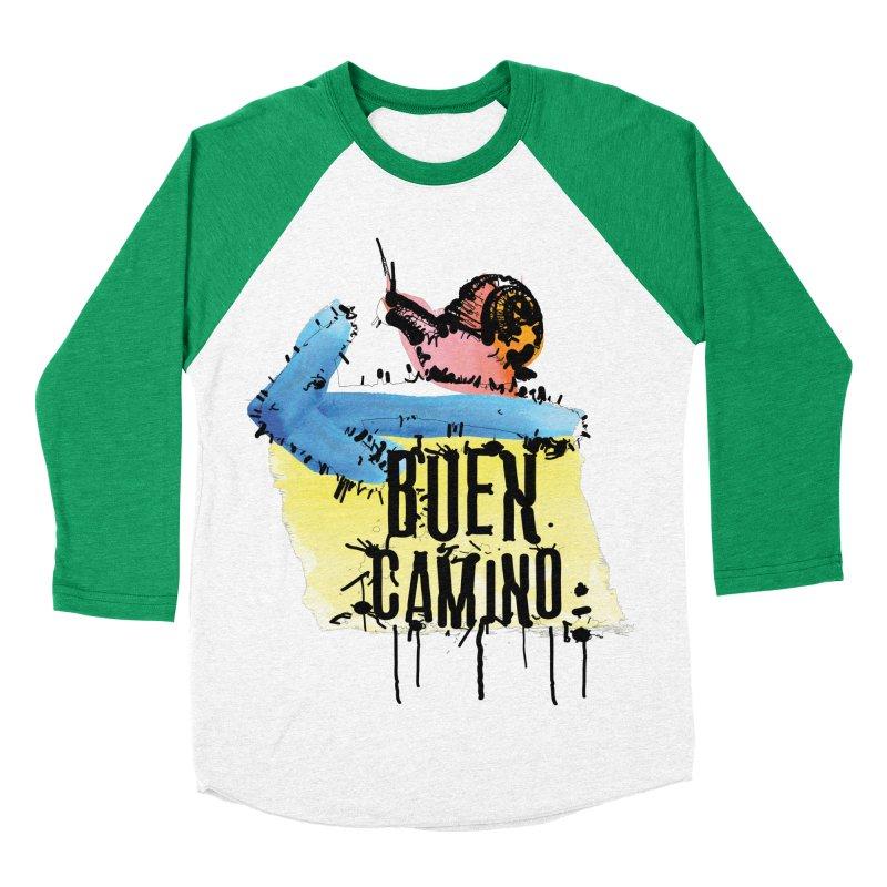 Buen Camino Men's Baseball Triblend Longsleeve T-Shirt by cindyshim's Artist Shop
