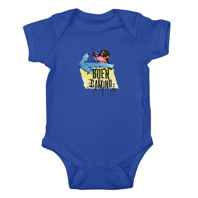 Buen Camino Kids Baby Bodysuit by cindyshim's Artist Shop