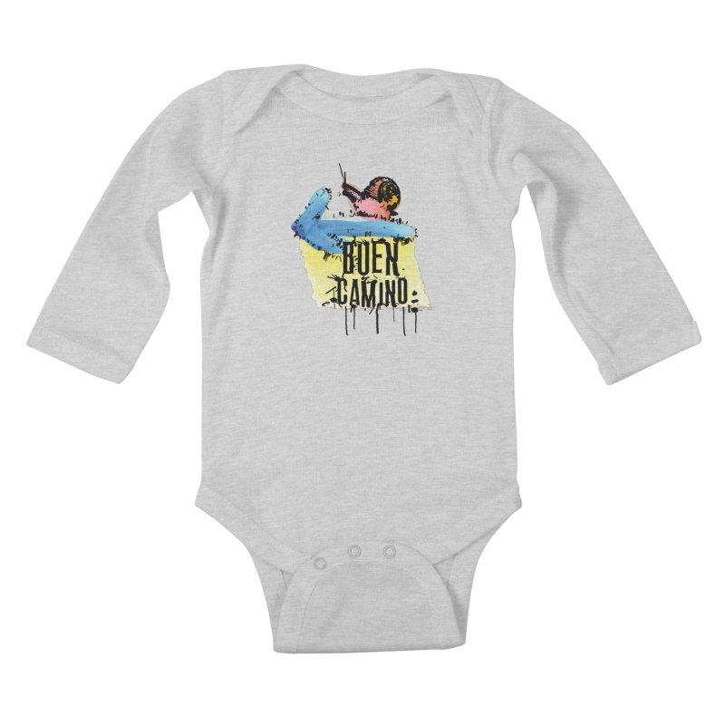 Buen Camino Kids Baby Longsleeve Bodysuit by cindyshim's Artist Shop