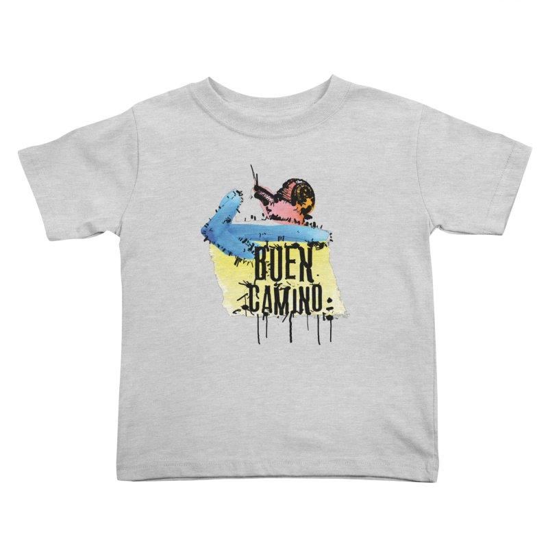 Buen Camino Kids Toddler T-Shirt by cindyshim's Artist Shop