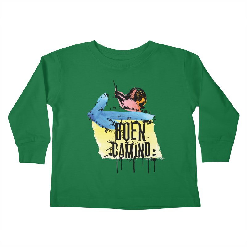 Buen Camino Kids Toddler Longsleeve T-Shirt by cindyshim's Artist Shop