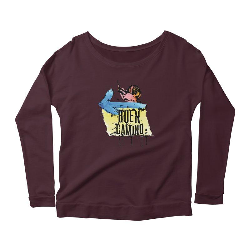 Buen Camino Women's Longsleeve T-Shirt by cindyshim's Artist Shop