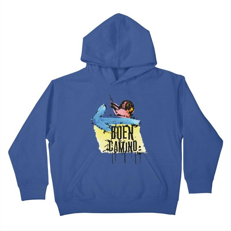 Buen Camino Kids Pullover Hoody by cindyshim's Artist Shop