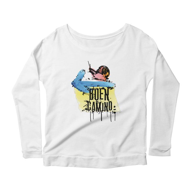 Buen Camino Women's Scoop Neck Longsleeve T-Shirt by cindyshim's Artist Shop