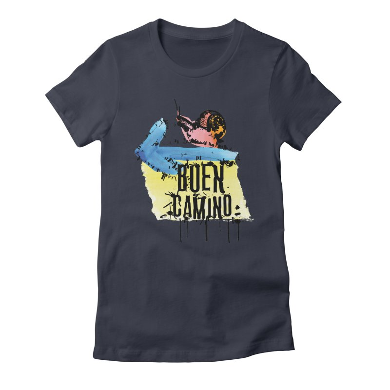 Buen Camino Women's Fitted T-Shirt by cindyshim's Artist Shop