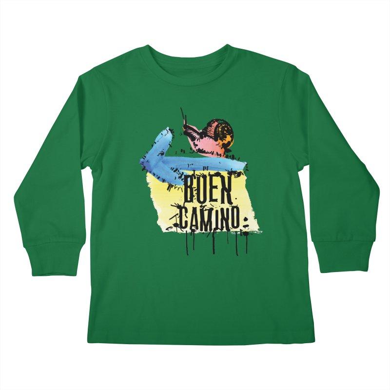 Buen Camino Kids Longsleeve T-Shirt by cindyshim's Artist Shop