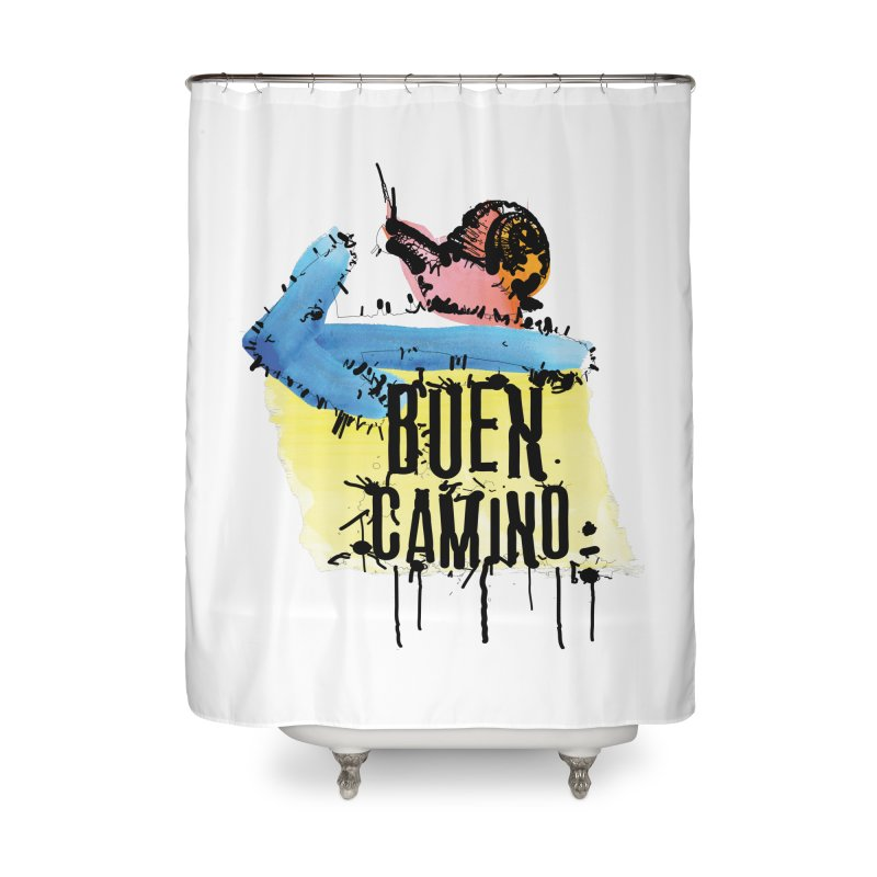 Buen Camino Home Shower Curtain by cindyshim's Artist Shop