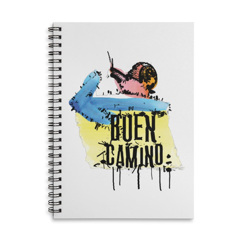 Buen Camino Accessories Lined Spiral Notebook by cindyshim's Artist Shop