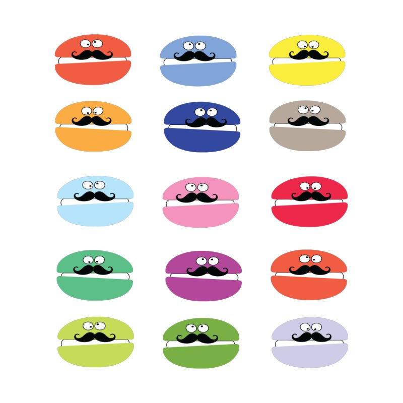 mustache macarons Men's T-Shirt by cindyshim's Artist Shop