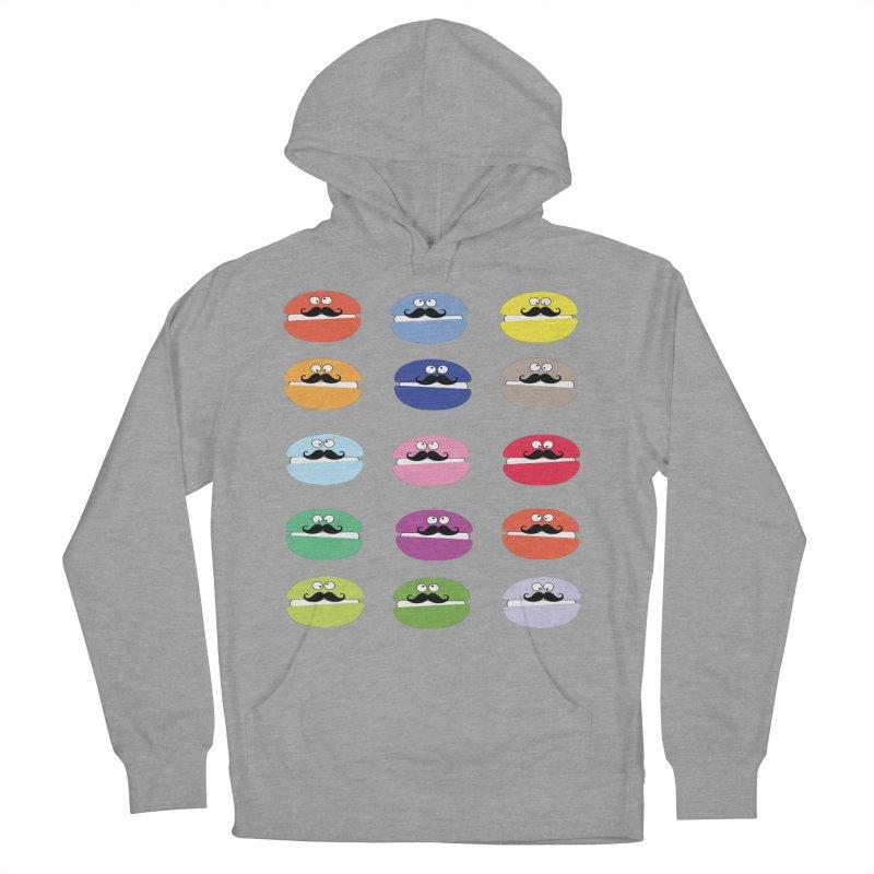mustache macarons Women's Pullover Hoody by cindyshim's Artist Shop