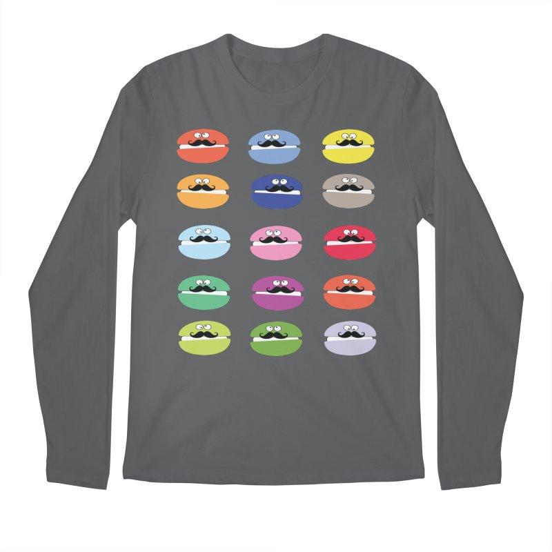 mustache macarons Men's Longsleeve T-Shirt by cindyshim's Artist Shop