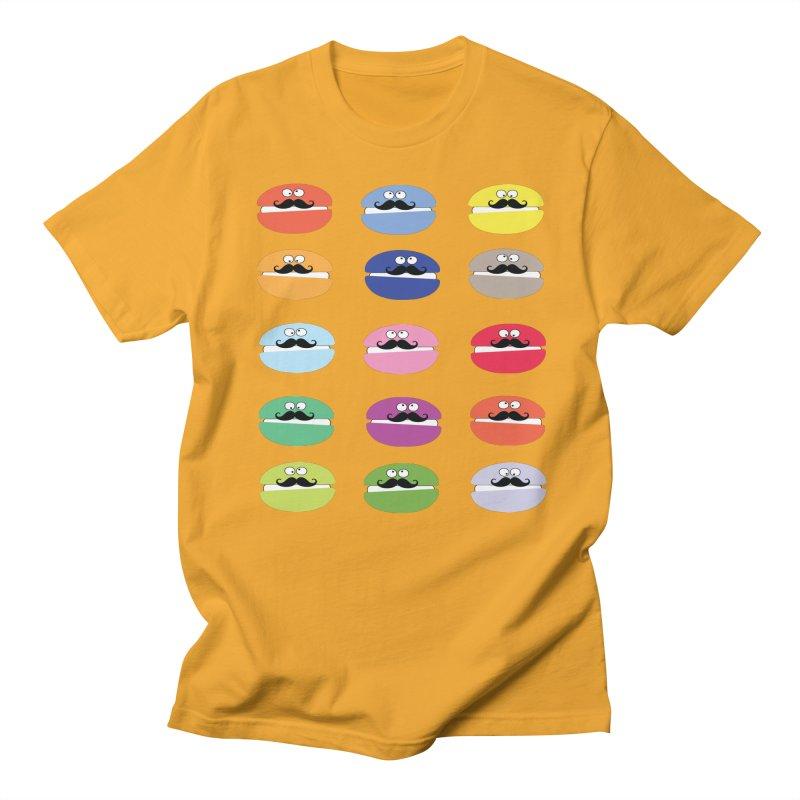 mustache macarons Men's T-Shirt by cindyshim's Artist Shop