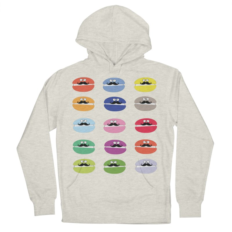 mustache macarons Men's French Terry Pullover Hoody by cindyshim's Artist Shop