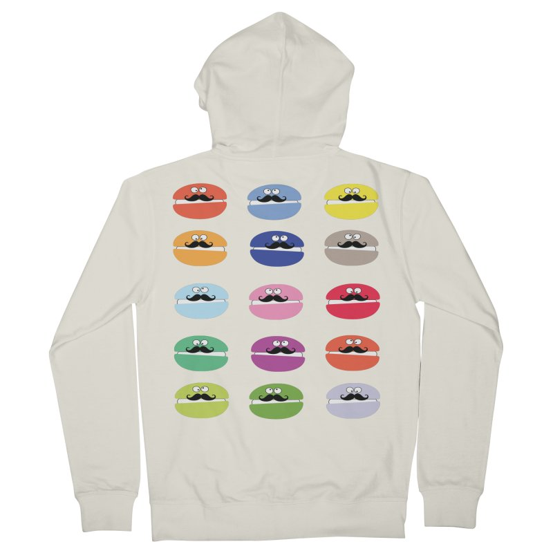 mustache macarons Men's French Terry Zip-Up Hoody by cindyshim's Artist Shop