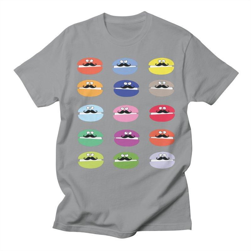 mustache macarons Men's Regular T-Shirt by cindyshim's Artist Shop