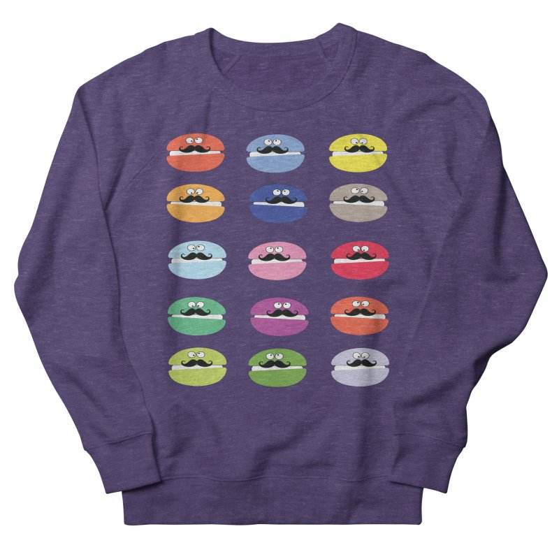 mustache macarons Women's Sweatshirt by cindyshim's Artist Shop