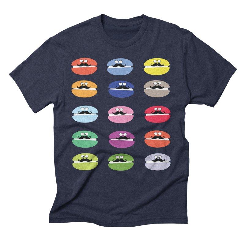 mustache macarons Men's Triblend T-shirt by cindyshim's Artist Shop
