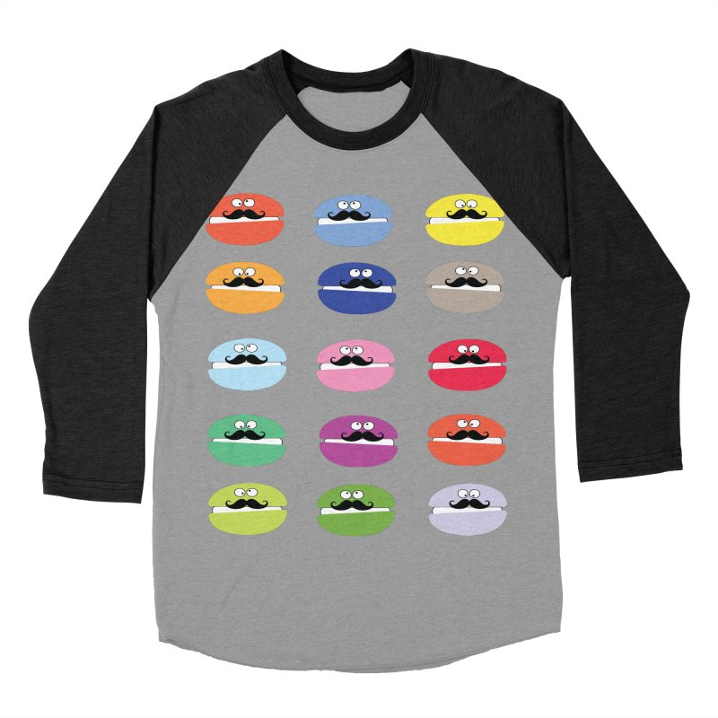 mustache macarons Men's Baseball Triblend T-Shirt by cindyshim's Artist Shop
