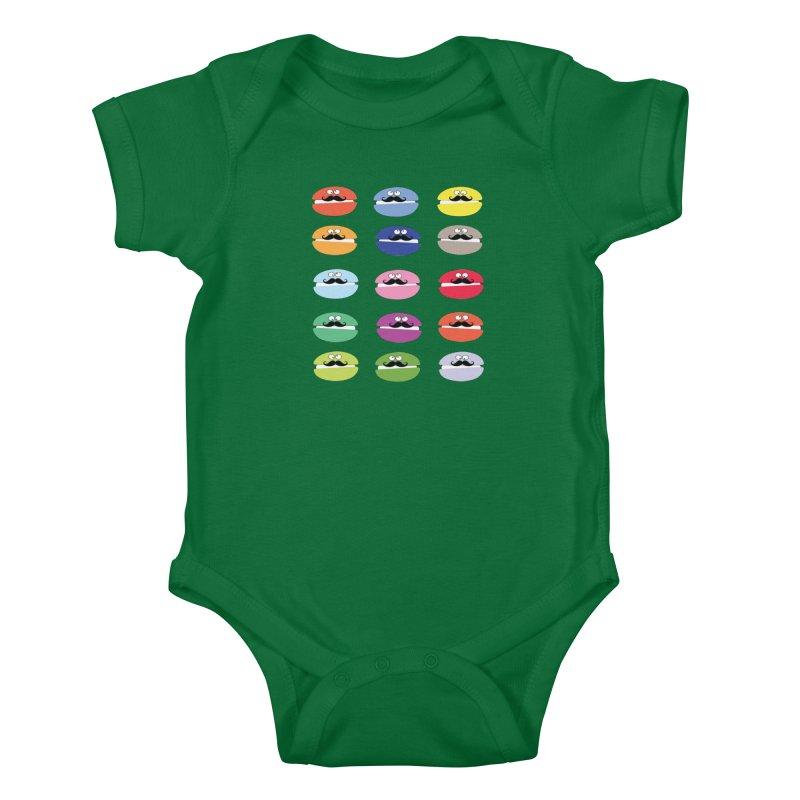 mustache macarons Kids Baby Bodysuit by cindyshim's Artist Shop