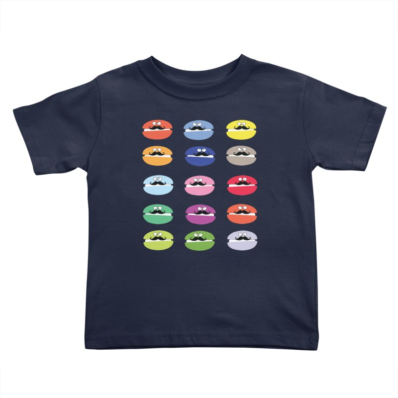 mustache macarons Kids Toddler T-Shirt by cindyshim's Artist Shop