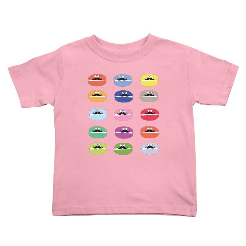 mustache macarons Kids Toddler T-Shirt by cindyshim's Artist Shop