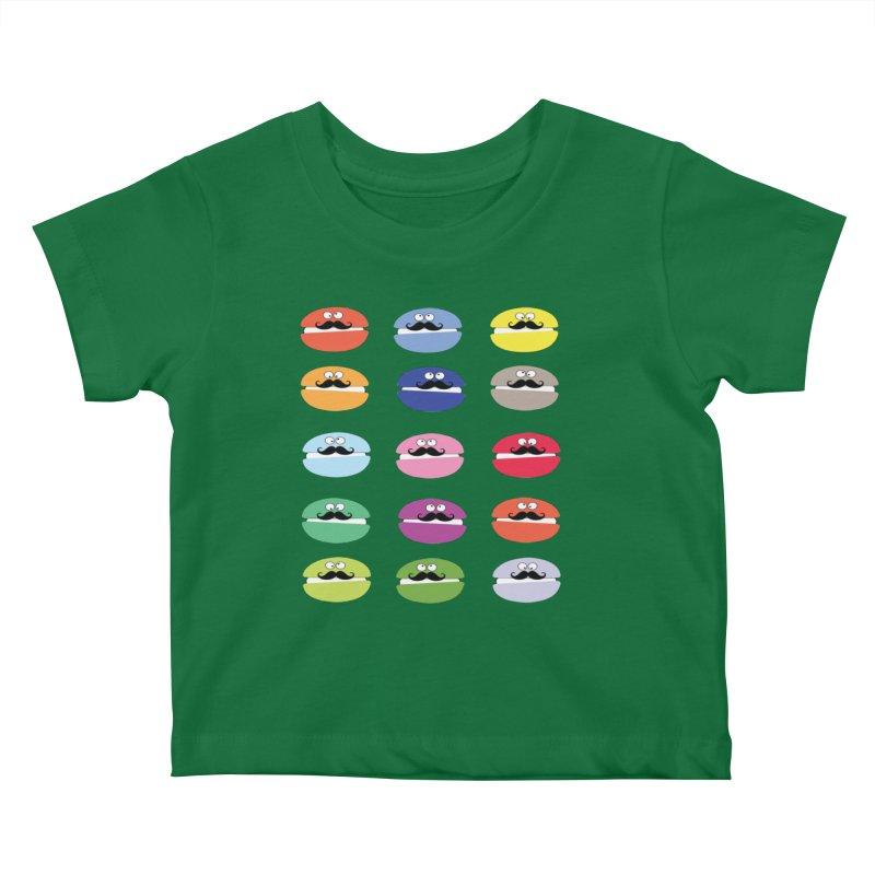 mustache macarons Kids Baby T-Shirt by cindyshim's Artist Shop