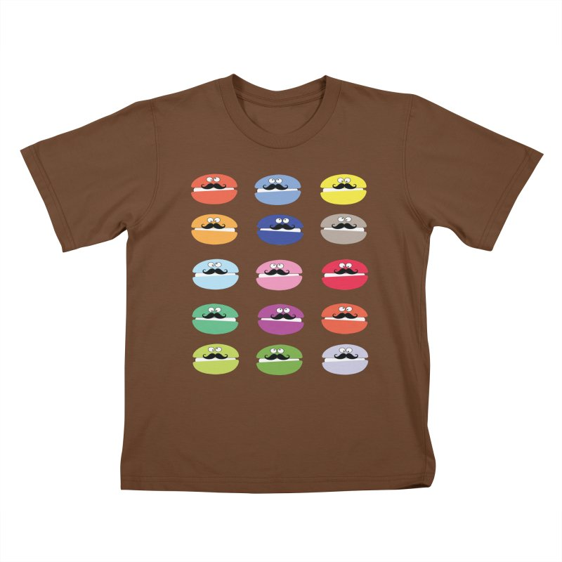 mustache macarons Kids T-shirt by cindyshim's Artist Shop