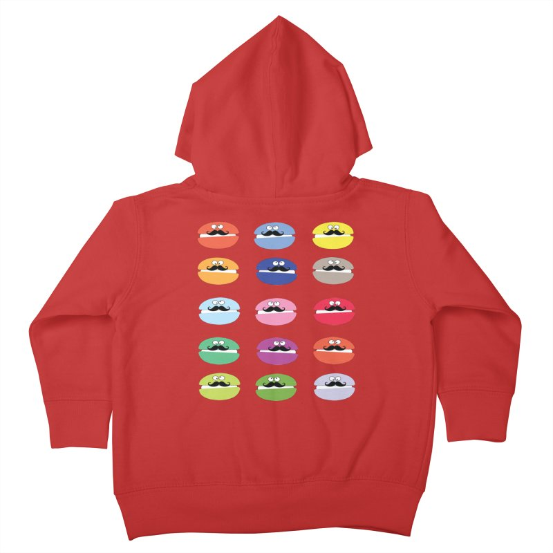mustache macarons Kids Toddler Zip-Up Hoody by cindyshim's Artist Shop