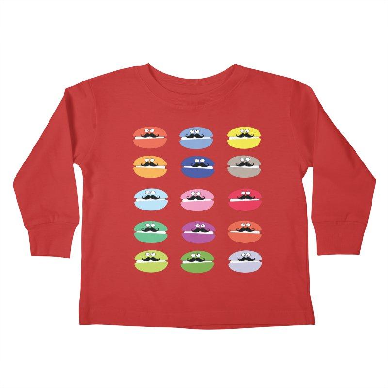 mustache macarons Kids Toddler Longsleeve T-Shirt by cindyshim's Artist Shop