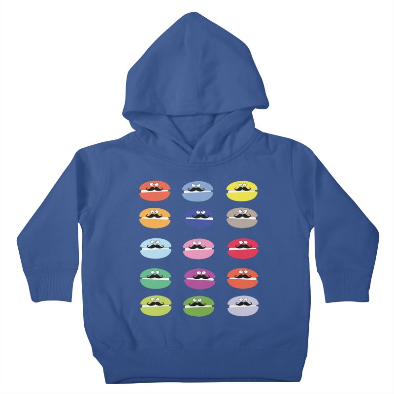 mustache macarons Kids Toddler Pullover Hoody by cindyshim's Artist Shop